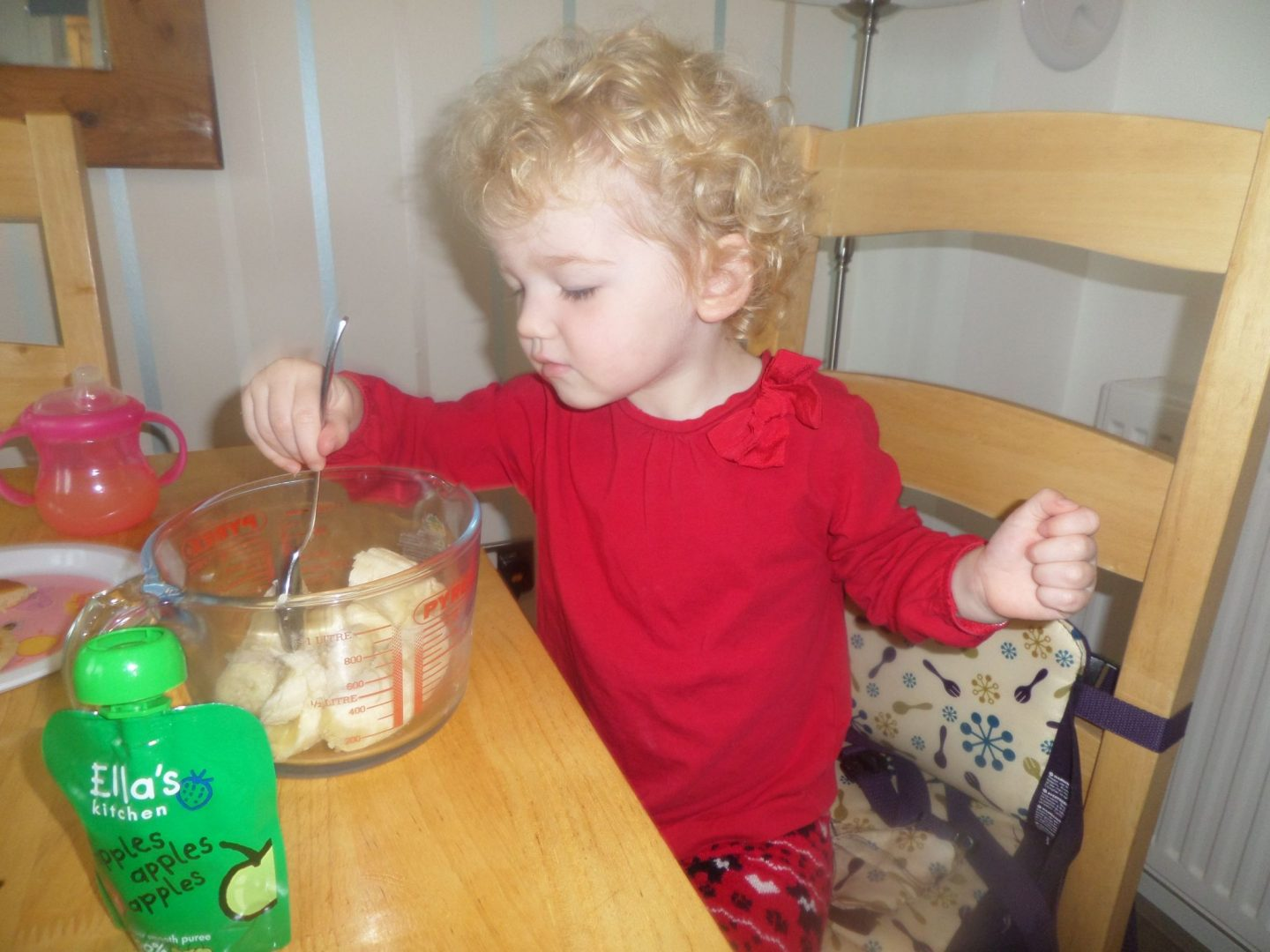 No sugar or butter flapjacks to bribe those toddlers