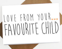 Do parents secretly have a favourite child?