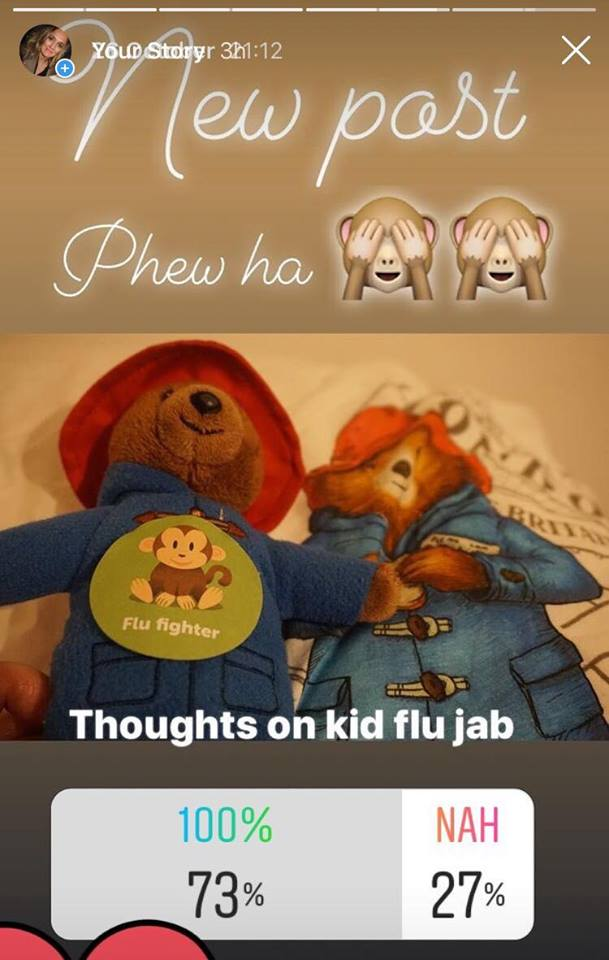 Jojo Fraser, Mummy Jojo on the flu jab 2018