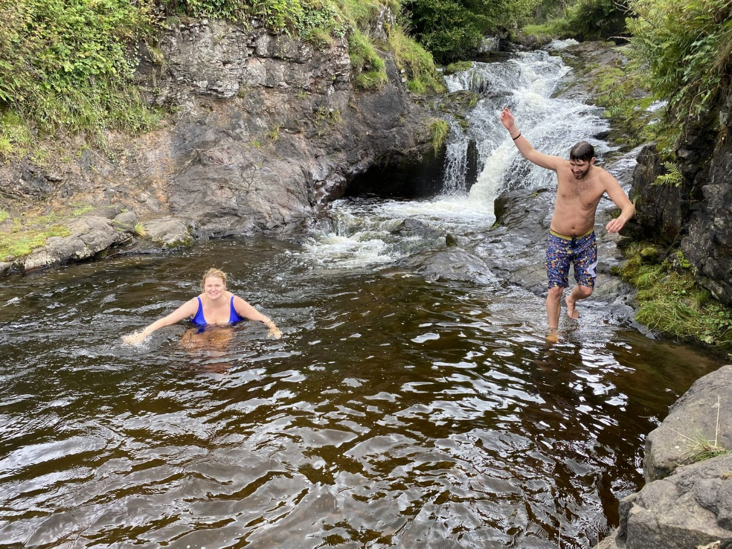 wild swimming in scotland - Paradise Pools