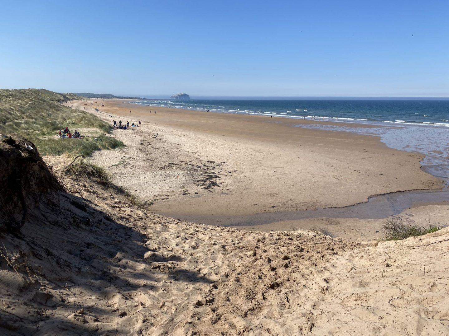 Tyninghame Beach – swimming off the beaten track in Scotland