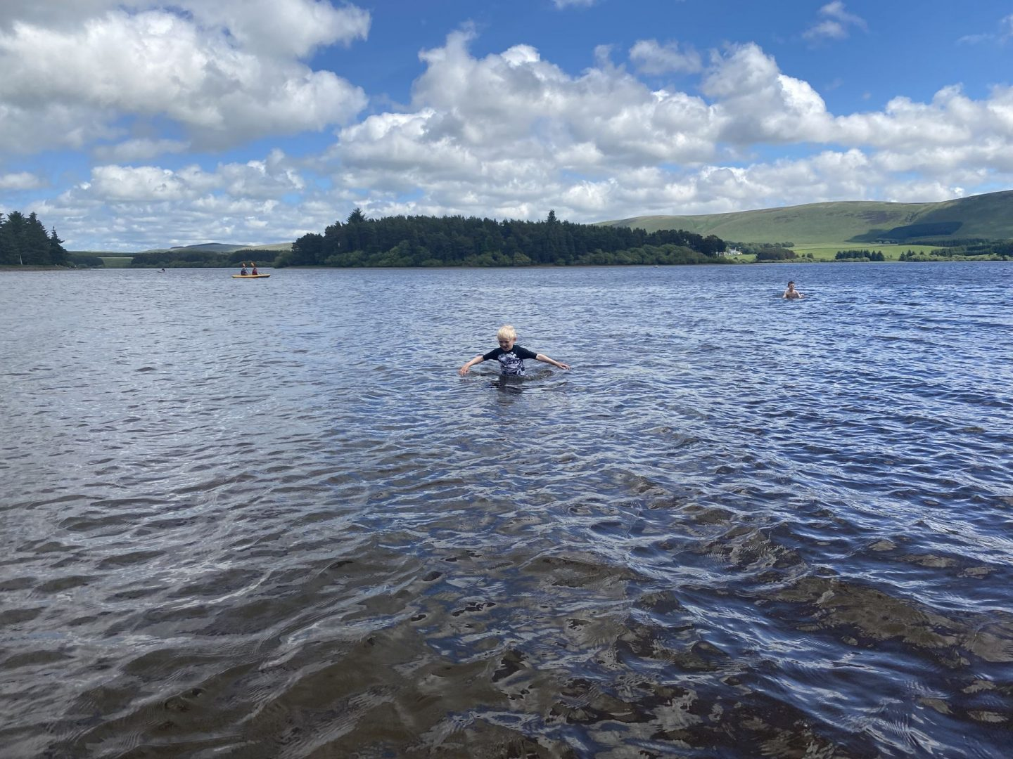 Wild swimming at Gladhouse Reservoir